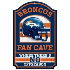 When the game is on the line and you're cheering on the Broncos from your man cave or TV room, this NFL® Denver Broncos™ Fan Cave Sign . Broncos Fans, Nfl Denver Broncos, Nfl Fans, Broncos Gear, Nfl Chicago Bears, Bears Football, Football Jokes, Football Baby, Chicago Blackhawks