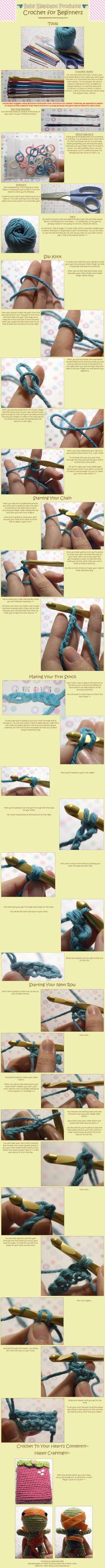 Beginners Crochet Tutorial by =moofestgirl on deviantART