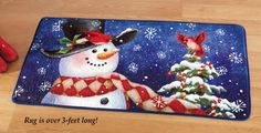 Holiday Jolly Frosty Snowman Rug