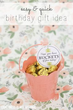buckets of fun birthday gift idea and free printable