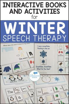 Winter Speech Therapy Activities – Winter Interactive Books and Sentence Building Activities for Preschool Speech Therapy and Special Education Autism … Preschool Speech Therapy, Speech Language Therapy, Speech And Language, Teaching Pronouns, Interactive Books, Autism Classroom, Sentence Building, Special Education, Wh Questions