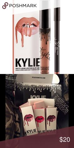 Kylie lip set Dirty Peach Kylie lipset Dirty Peach 🍑 never opened authentic Kylie Cosmetics Makeup Lipstick