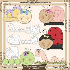 Big Bug's Life 1 Clip Art & Digital Stamp Set by Alice Smith