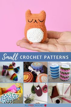 These quick crochet projects are also small and easy. Plus, you can use up your yarn stash! Scrap Yarn Crochet, Crochet Books, Quick Crochet, All Free Crochet, Cool Patterns, Crochet Patterns, Beginner Crochet Projects, Yarn Stash, Chrochet
