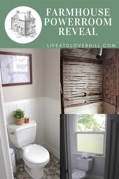 I'm so excited to finally reveal our Farmhouse Powder Room Makeover. Despite a few setbacks and having to change plans more than once (oh the joys of old homes), the room turned out even better than I'd hoped for. I've got all the details in today's post, including a complete source list. #farmhouse #home #homedecor #bathroom #bathroominspiration #farmhousedecor Bathroom Design Inspiration, Room Inspiration, Cottage Bathroom Decor, Powder Room Design, Decor Ideas, Craft Ideas, Decorating On A Budget, Decoration, Diy Furniture