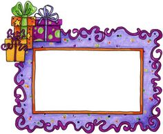 Birthday clipart frame