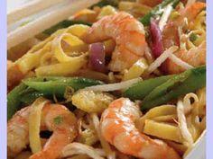 Receita Prato Principal : Tagliatelli com camarão e alho de Manekka