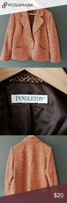 Pendleton skirt suit Jacket and skirt.   I have just KonMari'ed my closet. All things not sold by the end of April 2018 will go to Good Will with the other 4 bags.  I want the space back. These are priced to sell. If you want it, get it now. Pendleton Jackets & Coats Blazers
