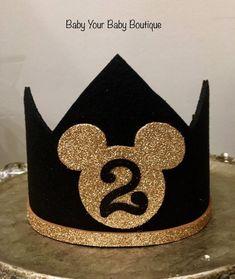 Mickey mouse birthday hat, boys birthday hat, photo prop, first birthday hat, First Birthday Hats, Wild One Birthday Party, Minion Birthday, Mickey Mouse Birthday, Husband Birthday, Baby Birthday, Minnie Mouse, Simple Birthday Decorations, Foto Newborn