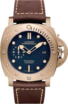 La Cote des Montres : La montre Panerai Luminor Submersible 1950 3 Days Automatic Bronzo – 47mm - PAM00671 - Un bleu océan qui sublime la majesté du bronze