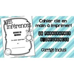 Cahier d'inférences - prêt à imprimer! Classroom Procedures, Social Studies Classroom, School Classroom, Classroom Management, Teaching French Immersion, Teacher Boards, French Classroom, Future Jobs, Inference