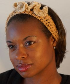 Gold Crown Crochet Headband