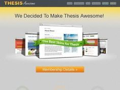 $25 OFF Thesis Awesome. Limited time offer