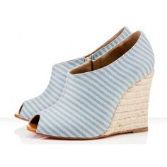 Christian Louboutin Corazon 60mm Blue Wedges