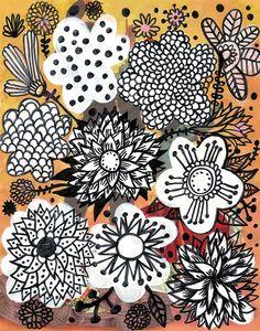 Devon Flowers by Mercedes Lagunas