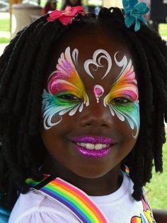Rainbow butterfly - easy