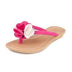 Cuero de imitación de las mujeres talón Flip Flop Zapatillas Flat Shoes (más colores) – EUR € 11.87