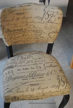 Silla francesa antes y después Hand Painted Furniture, Paint Furniture, Furniture Makeover, Date, Decoupage Chair, Bros, Dining Chairs, Projects To Try, Vintage