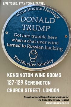 This new, dubious and unofficial, addition to the blue plaque tour is at an unlikely location. Kensington Wine Rooms was the meeting place of George Papadopoulos and Australian diplomat Alexander Downer in May 2016. Papadopoulos disclosed the Trump campaign's knowledge of Russian 'dirt' on Hilary Clinton.  After the DNC hack, Downer alerted the FBI and began Mueller investigation into the 2016 presidential campaign. #Trump #MuellerReport #London #momentsofmine #kensingtonwinerooms