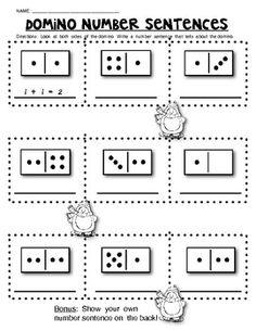 math worksheet : domino math worksheets composing and de posing numbers  math  : Domino Math Worksheets First Grade