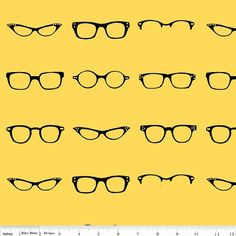 Riley Blake Geekly Glasses in Yellow