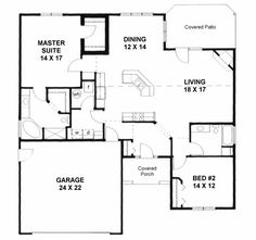 Small Casita Floor Plans | 2000 House Plans on Plan 1658 Handicapped Accessible House Plan