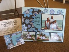 altered canvas scrapbooking | Altered Canvas Wall Art Class