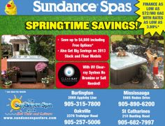 Visit The Sundance Spa Store This Weekend For Spring Savings!!!