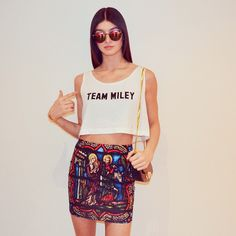 """@NYLON Magazine's photo: """"#DealoftheDay- get 15% off the """"Team Miley"""" crop with code """"TEAM15"""" at checkout on SHOP.NYLONMAG.COM"""""""