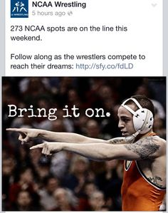 2014 NCAA Wrestling. I just love the fact that Jordan Oliver is on it
