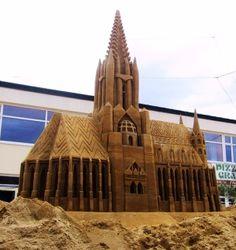 Escultura de areia por Eva