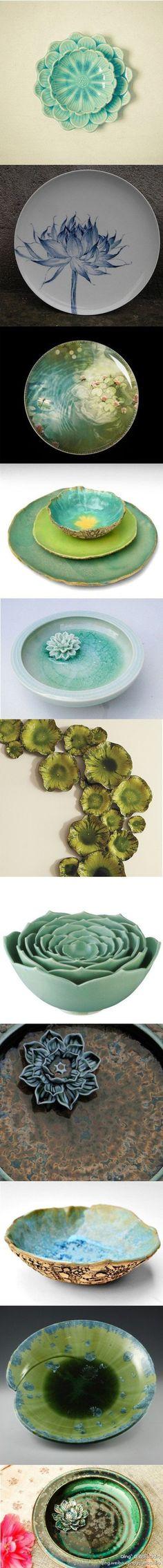 Chinese pottery #china 【醉美中国——莲·瓷】 - 纤纤捧,冰瓷莹玉,金缕鹧鸪斑,感受中华文化精髓。
