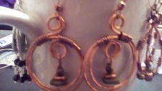 Handmade hammered copper hoops by halfmoonunder on Etsy