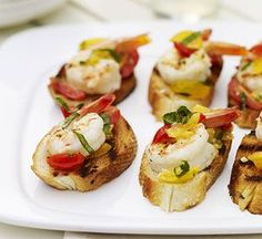 Delicious & Easy Appetizer: Shrimp & Pepper Bruschetta #BruschettaRecipe