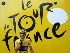 Radioshack-Nissan rider and leader's yellow jersey Fabian Cancellara of Switzerland prepares for the second stage of the 99th Tour de France cycling race between Vise and Tournai. BOGDAN CRISTEL/REUTERS