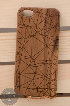 Polygon Geometric iPhone 6 iPhone 5 5s wooden case walnut bamaboo wood iphone Hipster case