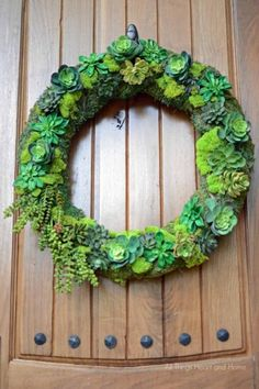 Faux Succulent Wreath - All Things Heart and Home