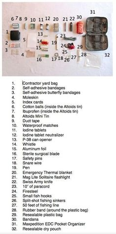 32-Piece Each Day Carry (EDC) Survival Package.... >> Look into even more by visiting the image