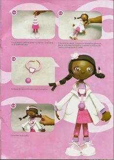 Revistas de manualidades Gratis: Doctora juguetes en espumosa 3D