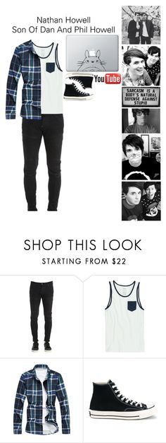 """""""Son Of Dan And Phil Howell"""" by pastelgothprincess27 ❤ liked on Polyvore featuring ...Lost, G-Star, RVCA, Converse, Humör, men's fashion and menswear"""