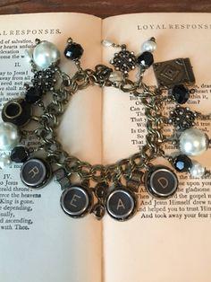 Read Charm Bracelet, gift for reader, gift for writer by StoriedJewelry on Etsy https://www.etsy.com/listing/569594551/read-charm-bracelet-gift-for-reader-gift
