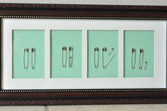 Simple wall hanging for baby's nursery--also makes a great baby shower gift! Easy to make, inexpensive family of safety pins. And... I love the sense of humor behind it all!