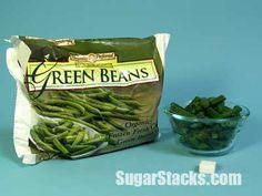 Green Beans (Frozen) serving Sugars, total: Calories, total: 30 Calories from sugar: 8 How Much Sugar, Gram Of Sugar, Sugar Cubes, Kids Diet, Pretty Good, Green Beans, Casserole, Truths, Frozen
