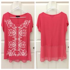 B.L.E.U. Made in USA long Tunic Shirt B.L.E.U. Made in USA long Tunic Shirt, Size S, excellent like new condition!! Gorgeous color, super flattering fit!! Tops