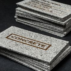 Concrete Style Business Cards with Gold Foiling Company Business Cards, Business Card Maker, Luxury Business Cards, Unique Business Cards, Business Card Mock Up, Business Logo Design, Construction Business Cards, Construction Logo Design, Buissness Cards