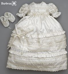 Beautiful Christening Gown for Girls with a vintage design.A true Heirloom Dress worth of pass on generations to come.shop at www.etsy.com/shop/burbvus