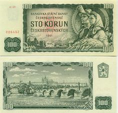Czechoslovakia Korun banknotes for sale. Dealer of quality collectible world banknotes, fun notes and banknote accessories serving collectors around the world. Over 5000 world banknotes for sale listed with scans and images online. Retro 2, Retro Vintage, Czech Money, My Roots, World Coins, Coin Collecting, Best Memories, Czech Republic, Childhood Memories