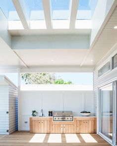 Kyal and Kara's Central Coast Australia home renovation – getinmyhome - Outdoor Diy Outdoor Bbq Kitchen, Outdoor Kitchen Design, Outdoor Barbeque Area, Small Outdoor Kitchens, Open Kitchens, Custom Kitchens, Parrilla Exterior, Coastal Homes, Coastal Cottage