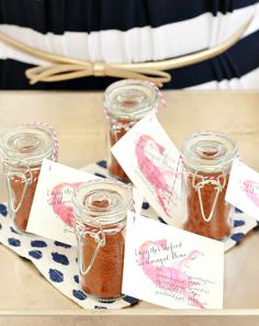Lobster Boil favors with recipe and printable tags by Commerce Street Events