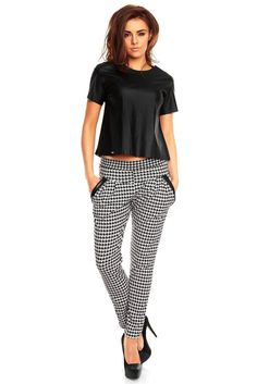 Houndstooth Pants with Pockets